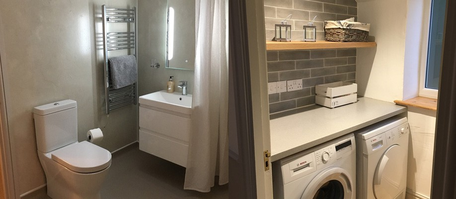 New bathroom and utility room