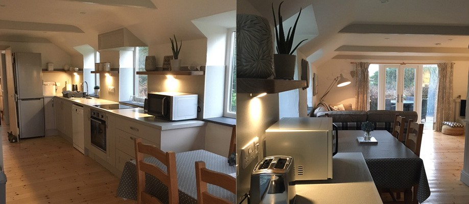 Newly refurbished kitchen for Meadow Cottage